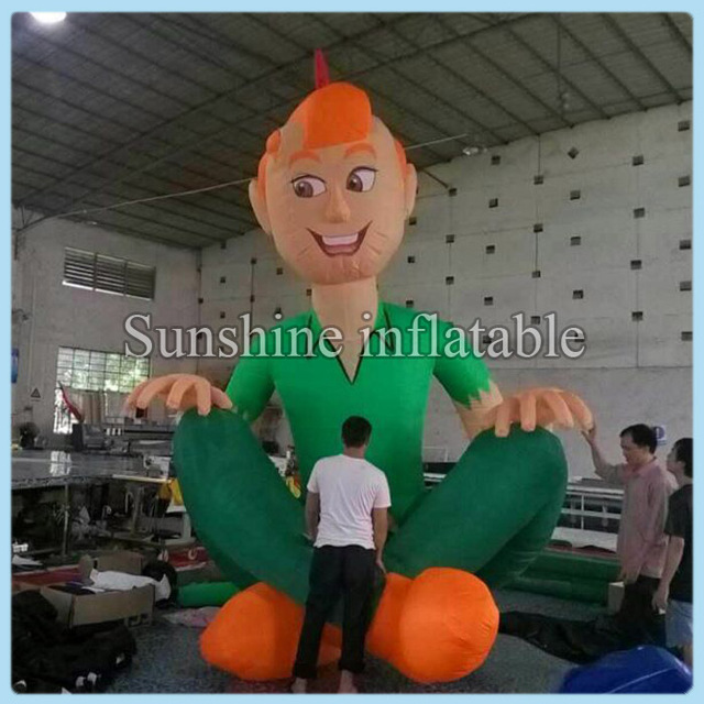 Newest custom design 15ft giant inflatable peter pan for advertising and events