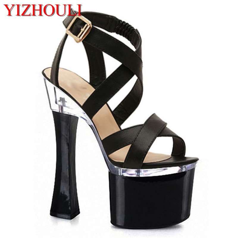 Women Gladiator Sandals Vintage Design Ankle Straps Open Toe Summer Shoes Thick High Heels Platform Sandals 17-18cmWomen Gladiator Sandals Vintage Design Ankle Straps Open Toe Summer Shoes Thick High Heels Platform Sandals 17-18cm