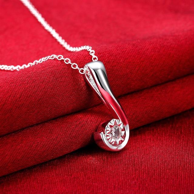 N843 wholesale hot sale question mark pendant necklace fashion n843 wholesale hot sale question mark pendant necklace fashion 925 jewelry chain silver aloadofball Image collections