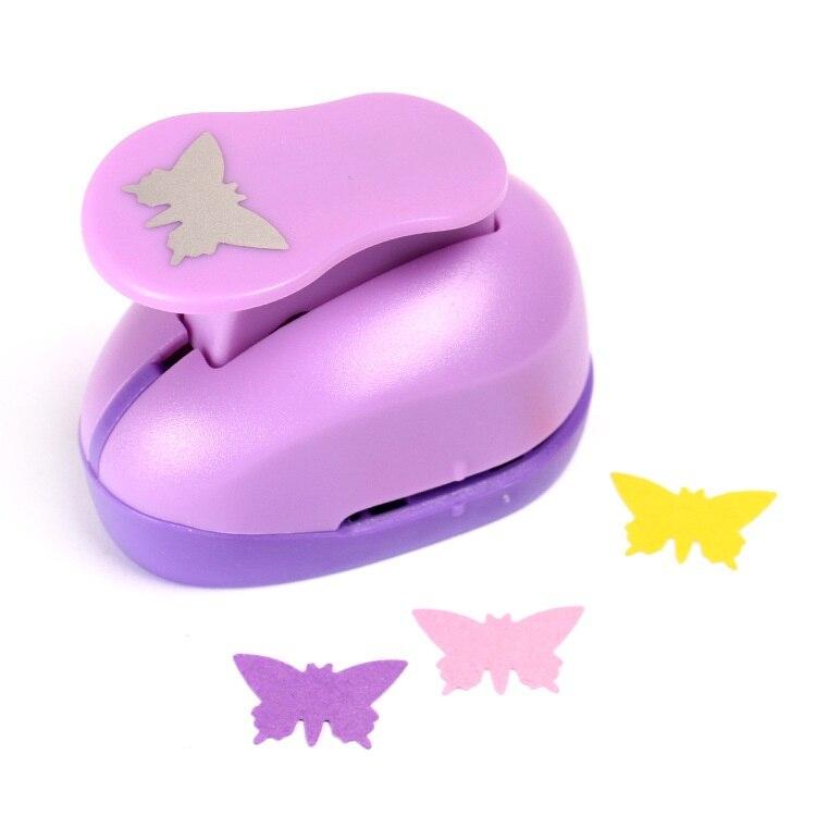 Motyl maszyna do wytłaczania z pianki Eva cios kwiat Diy dziurkacz ręczny papier do notatnika Cutter Scrapbooking stemple brajlowskiej dla dziecka