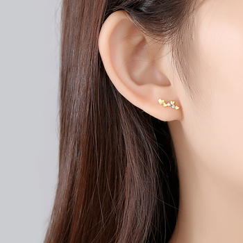 Exquisite 14k Gold Heart Stud Earrings 1