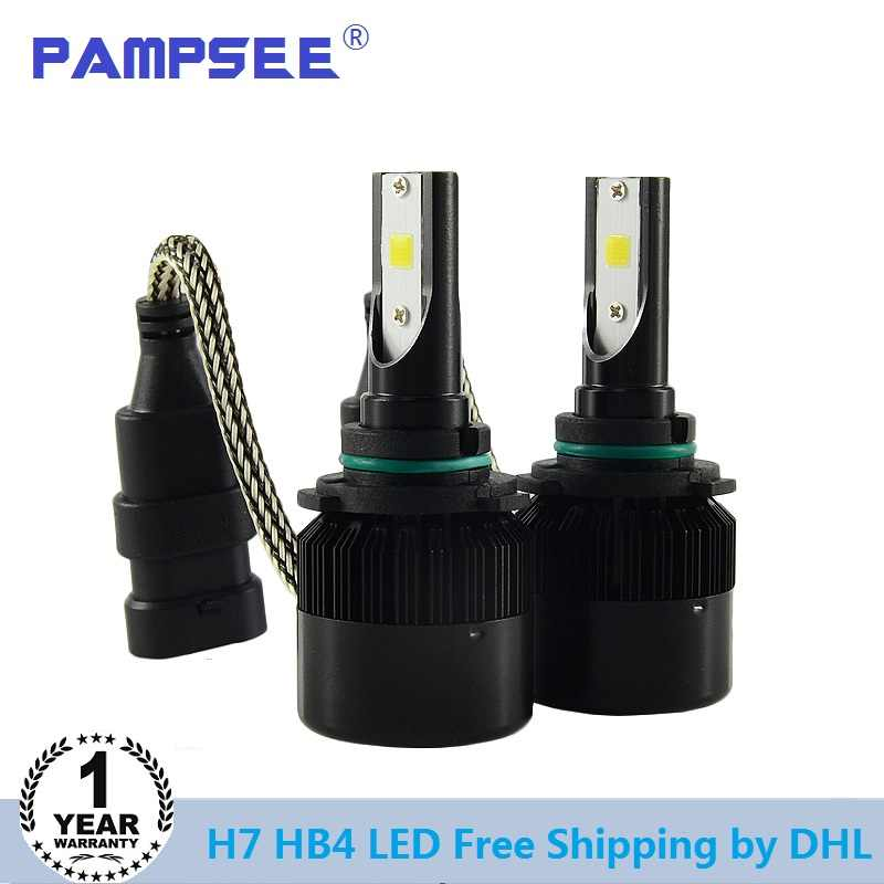Shipping by DHL C6S 5 sets H4 H7 Led Car Headlight 9005 9006 Fog light H11 H1 Bulb Beam All in one 7600Lm Automobiles Front Lamp