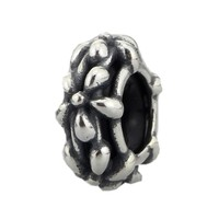 Five Petals Flower Beads Spacers Charms 925 Sterling Silver Charm Fit Troll European Brand Bracelet Jewelry Gift For Woman
