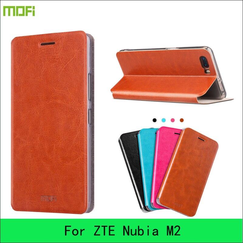 Чехол для ZTE Нубия m2 Mofi Сталь пластина внутри чехол для ZTE Нубия M2 кожаный чехол флип Стиль высокое качество чехол для мобильного телефона