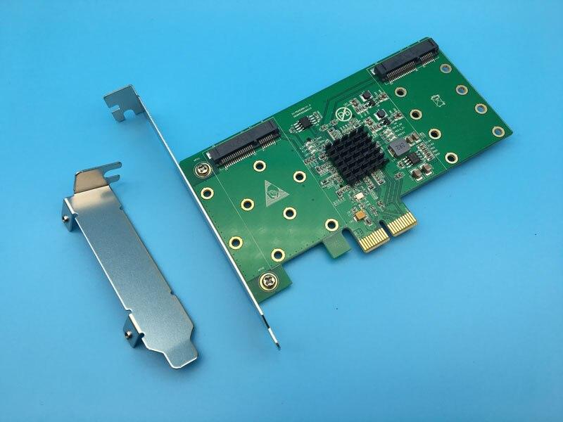 PCIe2 0 to 4Port mSATA SSD Hardware RAID Card Host Adapter NCQ 6Gbps Raid 0 1
