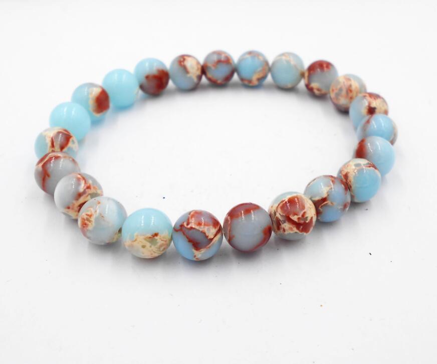 Natural stone Black Onyx Bracelet 8MM semi precious stone round beads stretch bangle bracelet for men girl women jewelry
