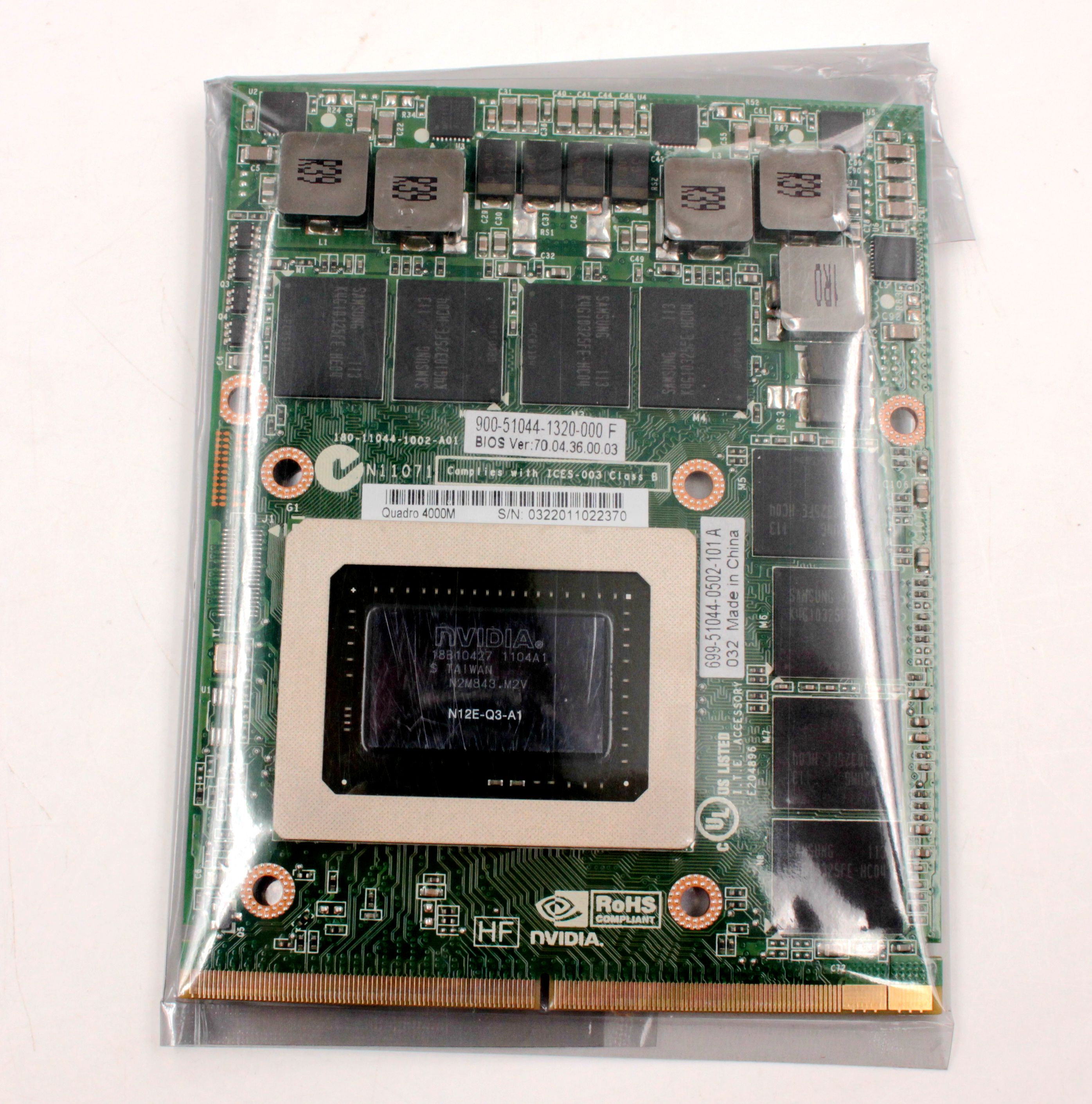 Quadro 4000M Q4000M 2G  CN-0HGXY3 HGXY3  Notebooks Card N12E-Q3-A1 New Original