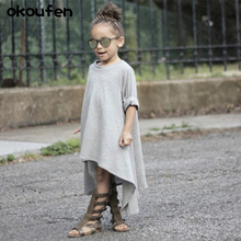 The 2017 spring seasons female child baby dress skirt long sleeved cotton 360 degree rotation