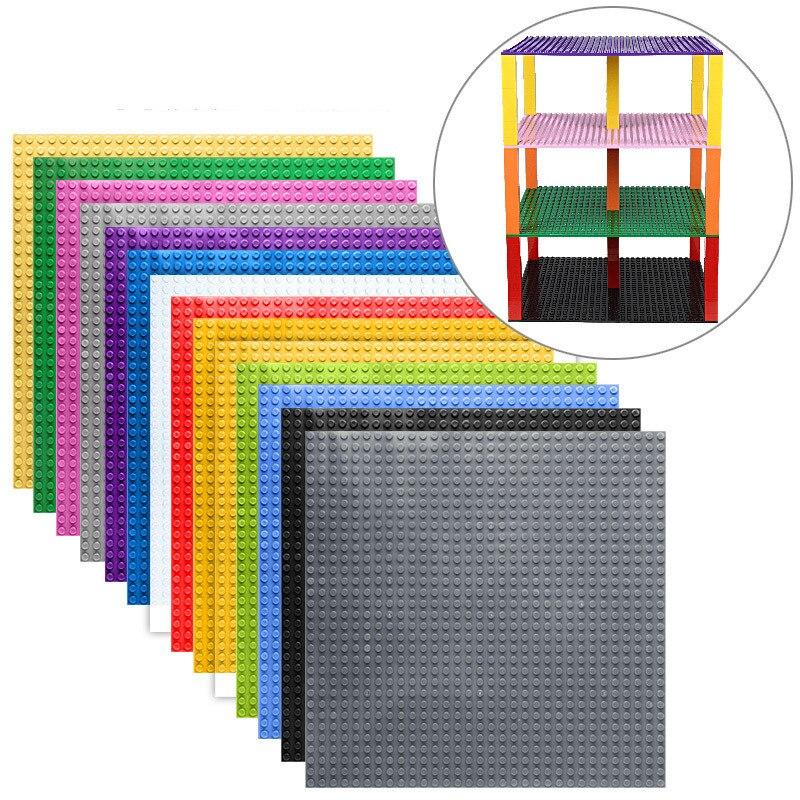 Haute qualité Double face 32*32 Points Plaques de Base Pour Les Petites Briques bricolage Blocs De Construction Plaque de Base Compatible avec Poulies Classiques