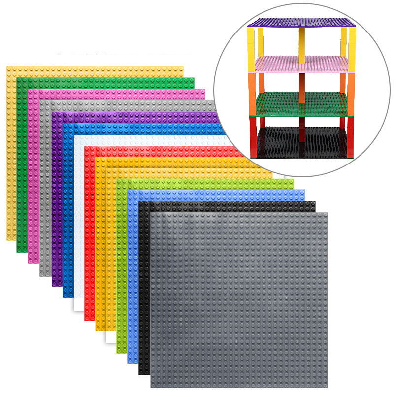High-Quality Double-sided 32*32 Dots Baseplates For Small Bricks DIY Building Blocks Base Plate Compatible with Legoing Blocks new big size 40 40cm blocks diy baseplate 50 50 dots diy small bricks building blocks base plate green grey blue
