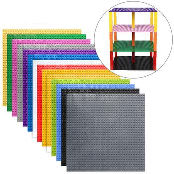 Wysokiej jakości dwustronne 32 * 32 kropki płyty fundamentowe dla małych cegieł DIY bloki budowlane płyta bazowa kompatybilny z Legoing bloków tanie i dobre opinie Blocks Unisex Plastikowe Certyfikat 6 years old KAZI Self-Locking Bricks TY-EN-220 1 PC Płyta bazowa 25 6 CM * 25 6 Wiele kolorów