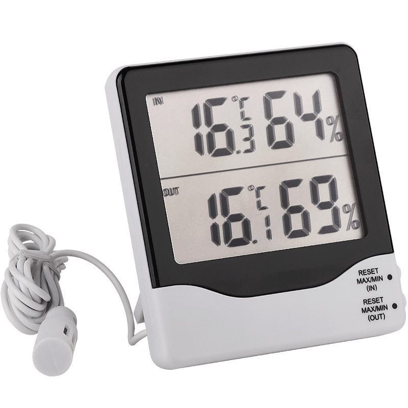 Two Channels In & Out LCD Electronic Temperature Humidity Meter Thermometer Hygrometer Weather Station Thermo-Hygrometer цена