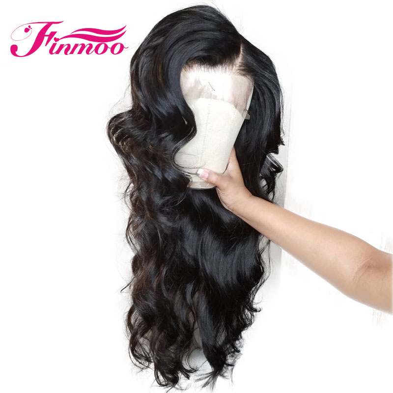 Finmoo Full Lace Wigs Indian Remy Hair Body Wave 130 Density Human Hair Wigs With Baby