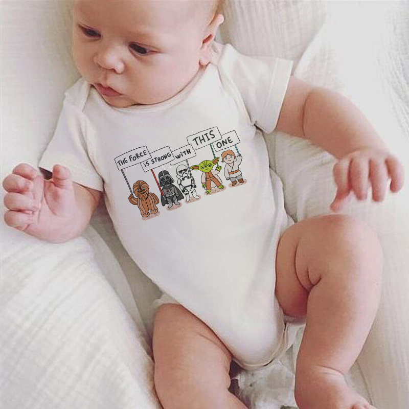 Newborn Baby Bodysuit Print Body Suit Fashion Summer Baby Girl Boy Short Sleeve Baby Toddler Jumpers Infant Bodysuit DS19
