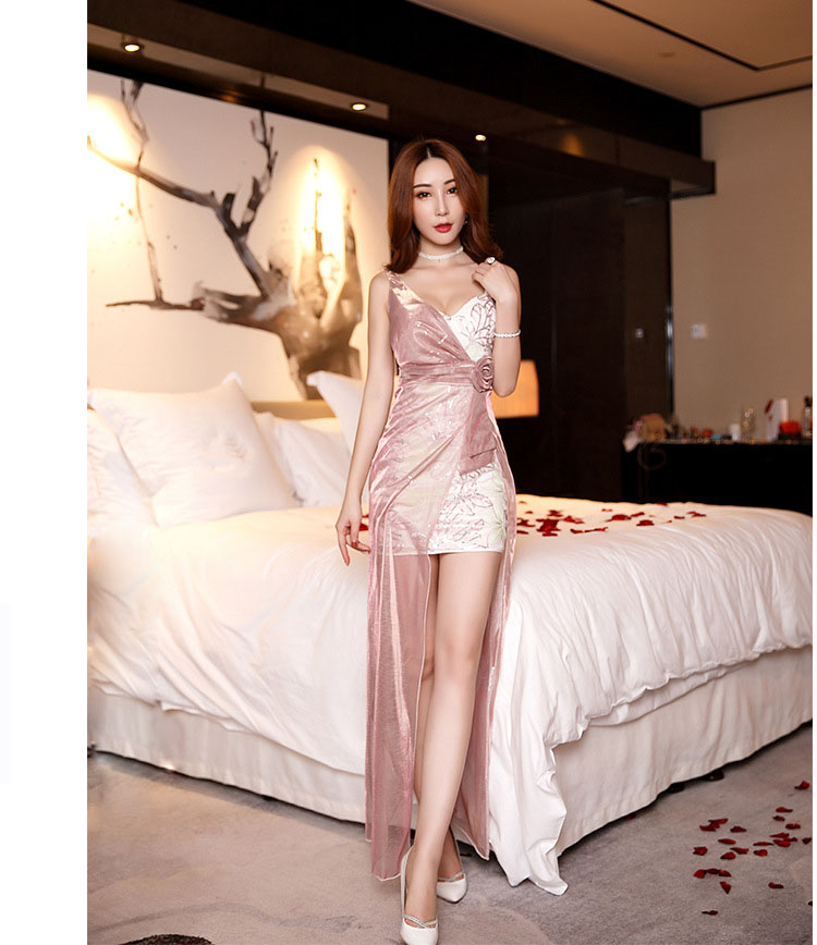 911f67848f22 Spring Autumn Club Factory Night Dress Women Plunge Neon Mesh And ...