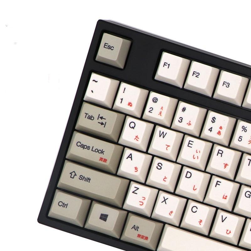Mx-Mechanical-Keyboard Keycap Grey Japanese White Korean 108-Keys Cherry BGKP for Dye Sub