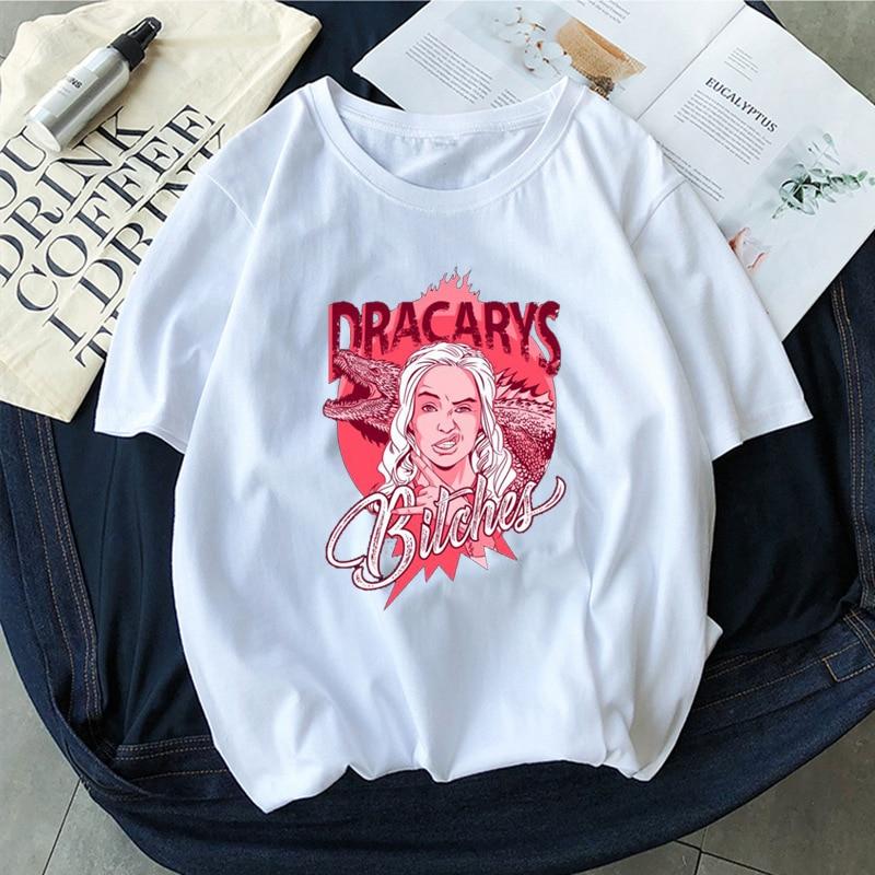 Dracarys Tshirt Game Of Thrones Brand Unisex Adults T-Shirt Harajuku Vintage T Shirt Camisetas Hombre Tshirt Men Women Tee Shirt