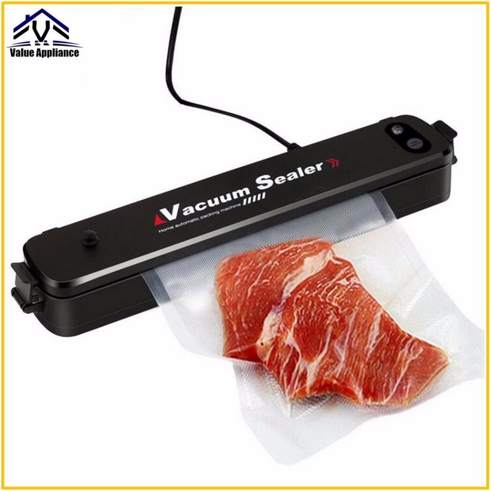 Powerful Household Food Vacuum Sealer High Quality Packaging Machine Film Sealer Vacuum Packer Including 15Pcs Bags portable food vacuum sealer food saver vacuum packer container film packaging heat sealing machine including 15pcs bags 220v