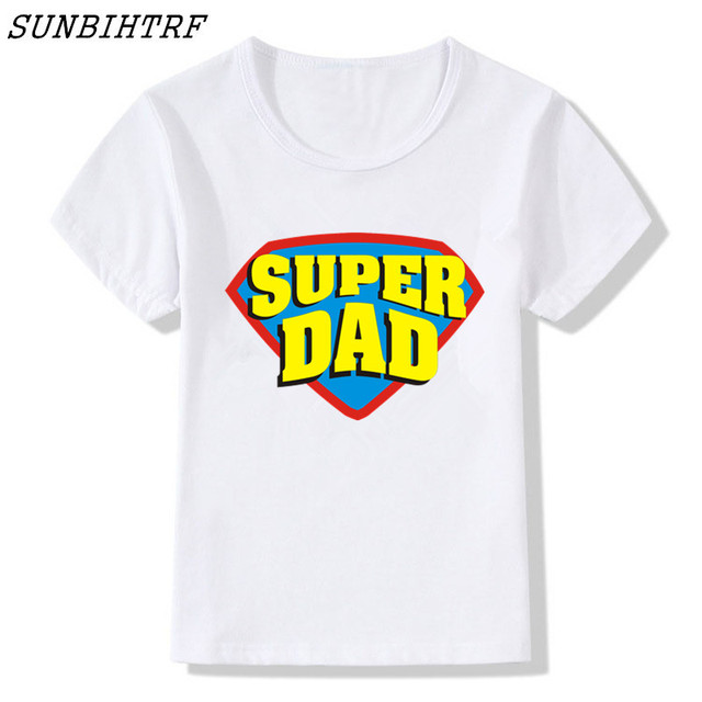 2018 New Awesome Super DAD Daddy T Shirt Children Fathers Day Birthday Gift Present Baby Tee Tops Shirts Funny Cool Kids