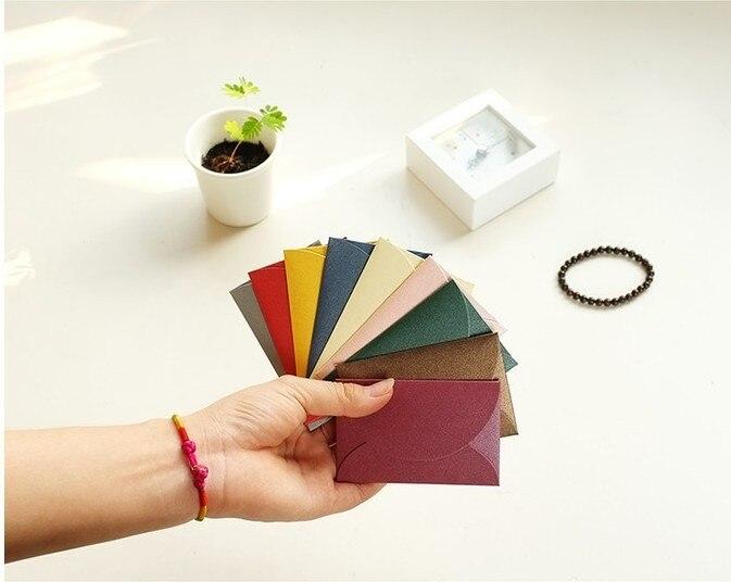 100pcs Lot 6 9cm Vintage Love Small Colored Pearl Blank Mini Paper