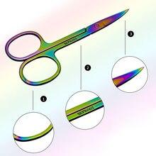 Красочные ножницы для бровей из нержавеющей стали, для стрижки волос, для красоты, для макияжа ногтей, для удаления омертвевшей кожи, ножницы, инструмент для макияжа