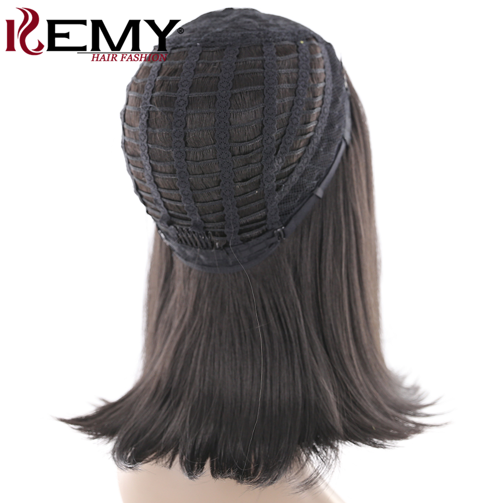 KEMY HAIR Short Bob Wigs For Black Women Straight Synthetic None Lace Wigs Side Part Shoulder Length Heat Resistant 16 4 Colors