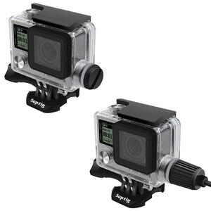 Image 3 - Ir pro acessórios para gopro hero 4/3 +/3 mergulho subaquático à prova dwaterproof água led luz caso habitação capa cabo de carga