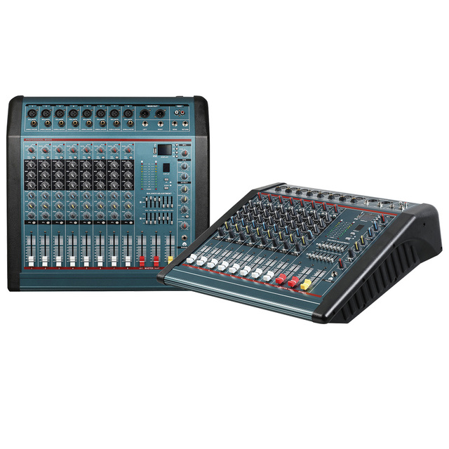 Mixing console recorder 48 V phantom power monitor AUX effect path 6-16 channel audio mixer USB comes with power amplifier MX