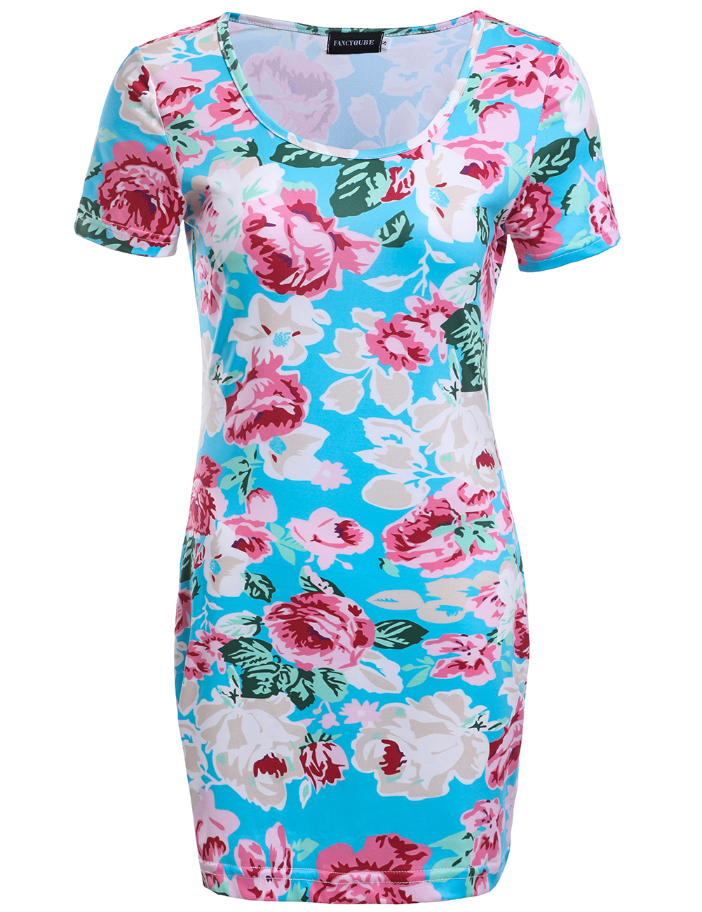 Floral Dress Sexy Women Dress Short Sleeve O-neck Mini Dress Elegant Pencil Dress With Real Pic