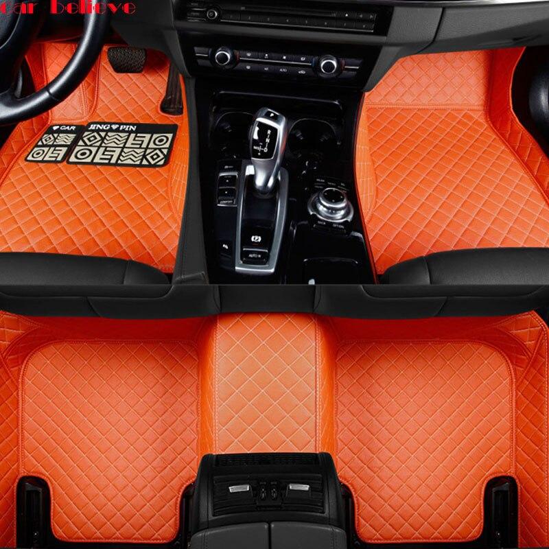 Car Believe Auto car floor Foot mat For porsche cayenne macan car accessories waterproof carpet rugs