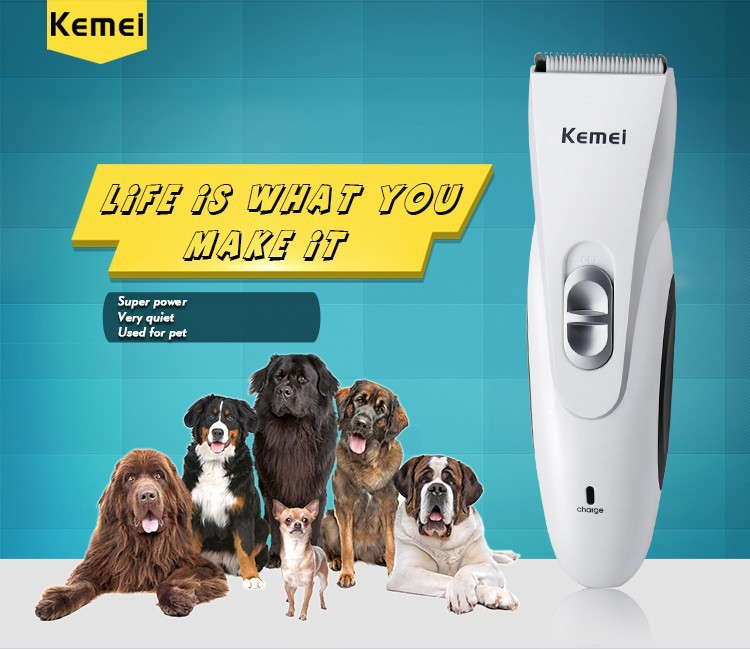 T085 rechargeable animal hair clipper for pet barber electric shaving machine kemei hair cutting professional beard trimmer pro rechargeable pet hair clipper with accessories set 110 240v ac