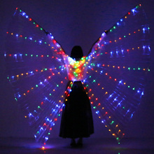 NEW Unisex Belly Dance Props 360 Degrees LED ISIS Wings Girls Accessories With Sticks and Bag