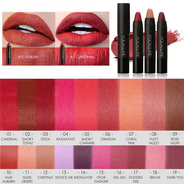 High Quality Focallure Women Matte Lipstick Pen Waterproof Long-lasting Cosmetic Nude Lady Lips Makeup Lipsticks well 1