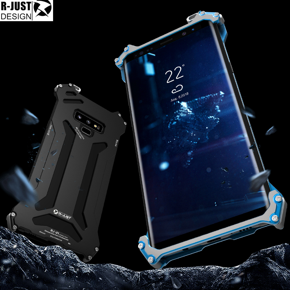 R JUST Gundam Series Metal Bumper for SAMSUNG Galaxy S9 S9 PLUS NOTE 9 8 S8 S8 plus Armor Doom