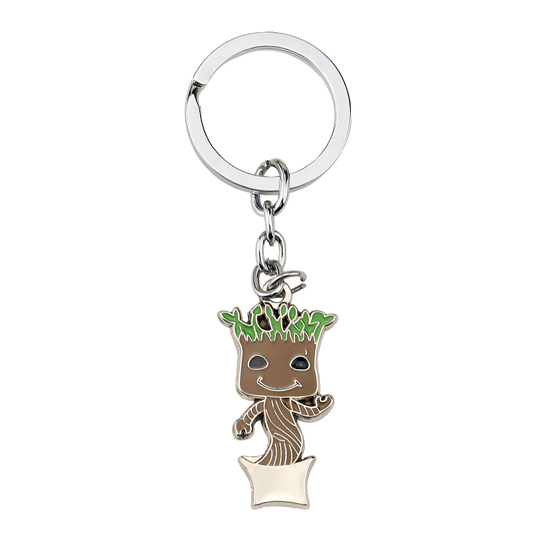 Guardians of the Galaxy character Keychain alien Keychain movie jewelry Men jewelry accessories