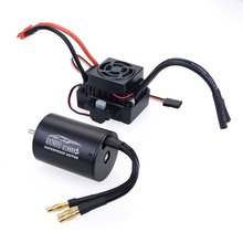 NEW 3650 2300/3100/3900KV / 3660 2600/333800KV Motor With 60A ESC Kit Waterproof Brushless Motor for 1/10 RC Car Boat ESC Racing цена в Москве и Питере
