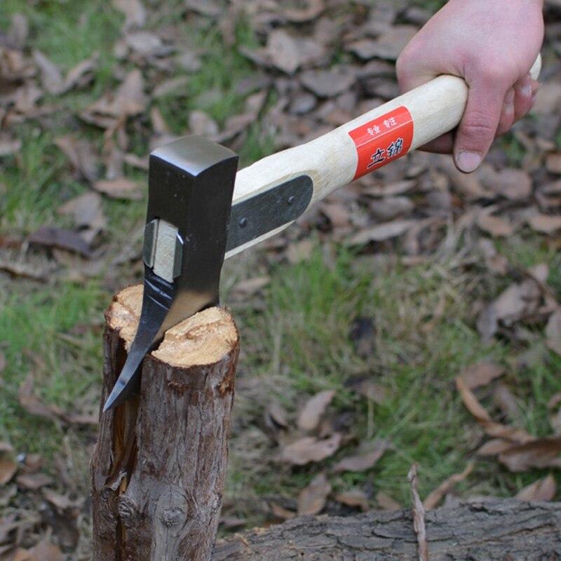 Rails forgés à la main en acier hache de Camping en plein air chasse à bois hache d'abattage outils de survie hachette Tomahawk glace Poleaxe