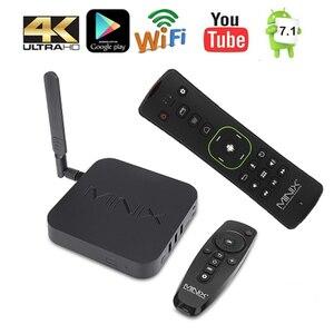 Image 2 - MINIX NEO U9 H + Neo A3 Android 7.1 TV Box Với Tiếng Nói Đầu Vào Không Khí Chuột Tùy Chọn Amlogic S912 H Octa Core 4K HDR Wifi Smart TV Box