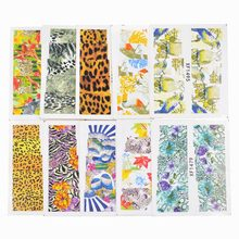 50 Sheets Mixed Styles Watermark Leopard Animal Etc Stickers Nail Art Water Transfer Tips Decals Beauty Temporary Tattoos Tools(China)