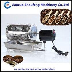 Ekspres do kawy prażarka do fasoli gospodarstwa domowego mini ze stali nierdzewnej bęben elektryczny typu obrót prażalnik kawy ZF
