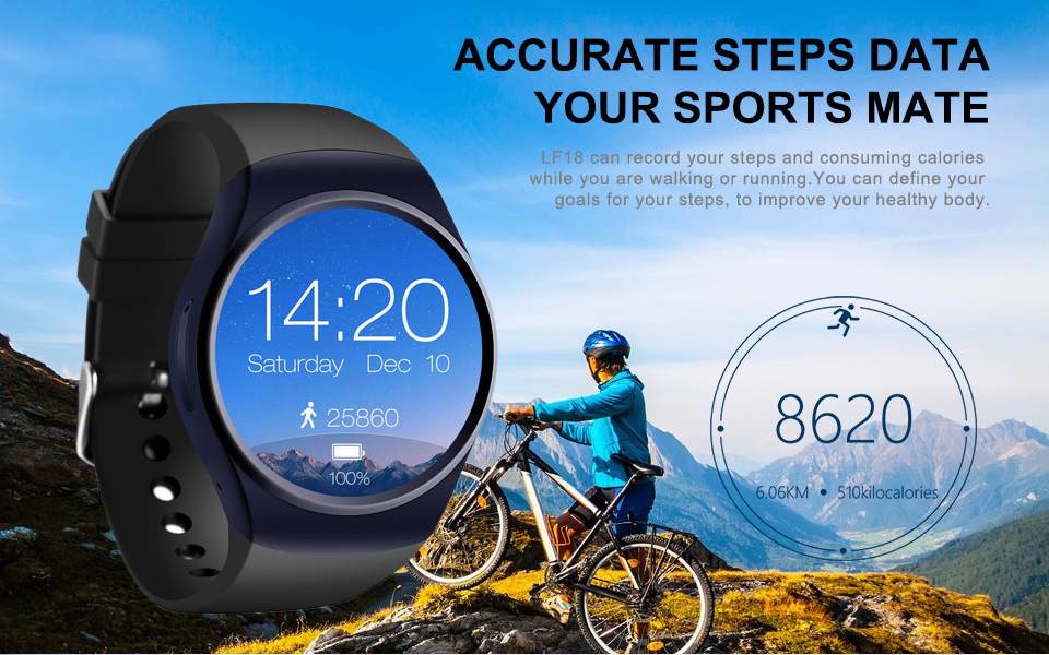 LF18 Bluetooth Smart Watch Phone Full Screen Support SIM TF Card Smartwatch Heart Rate_08