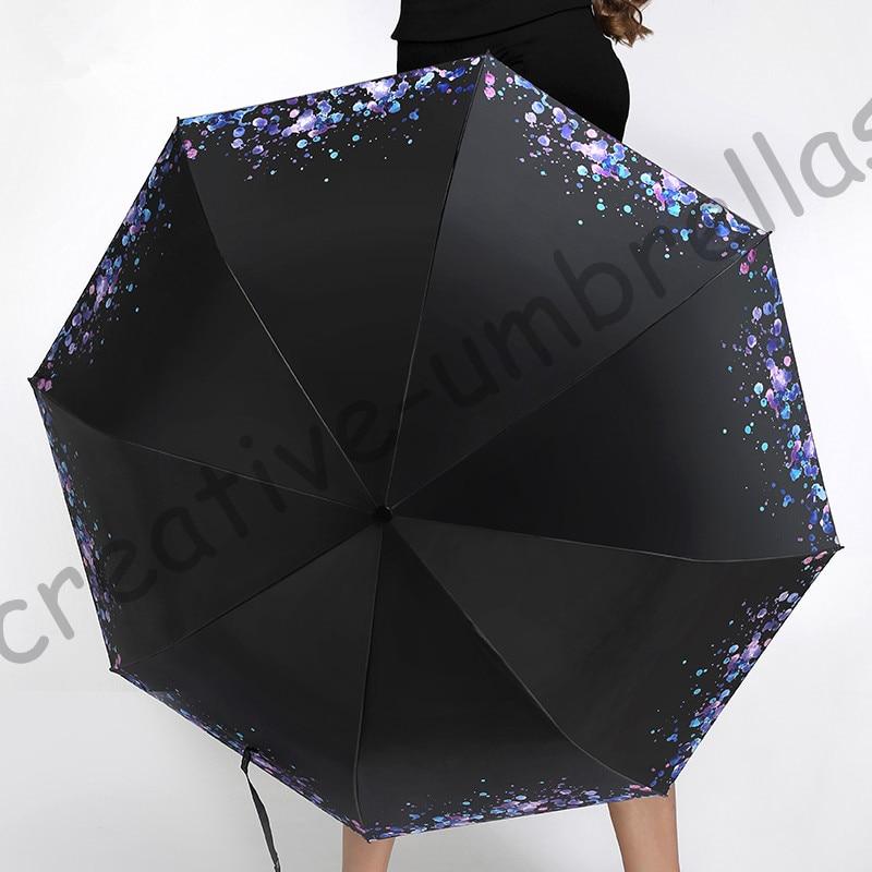 3 adet 1 adet ücretsiz Öküz esnek fiberglas rüzgar geçirmez 5 kez olsun siyah kaplama uv şemsiye cep katlanır su damlası şemsiye