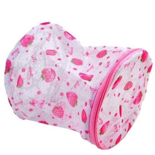 Bra/Underwear/Lingerie/Socks Laundry Mesh Bag Wash Basket--Strawberry or Rose Print