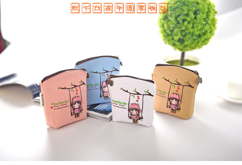 Coin Purses & Holders Cartoon Zero Wallet Pu Waterproof Key Pack Creative Coin Pack Holiday Promotional Gifts Luggage & Bags
