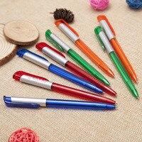 DHL Fast Shipping 1000pcs Lot Including 1 Colour Logo Advertising Plastic Pen Custom Transparent Advertising Pen