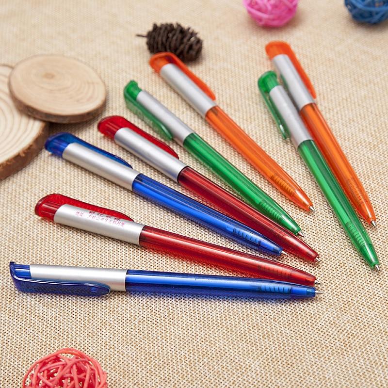 DHL livraison rapide 1000 pcs/lot, y compris 1 couleur logo publicité stylo en plastique personnalisé transparent publicité stylo promotion stylo