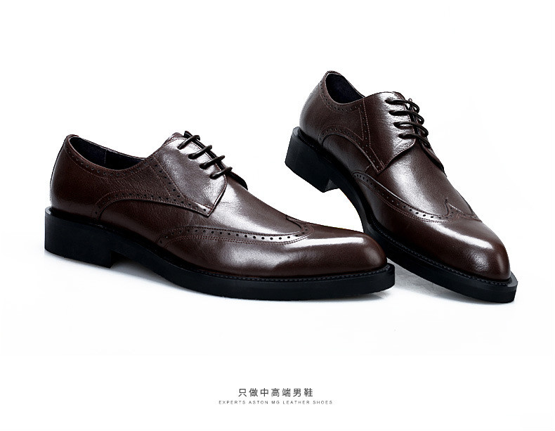 Luxury Leather Lace Up Modern Men s Business Dress Brogue Shoes Party  Wedding Suit Formal Footwear Male 3dbf23b15f3c