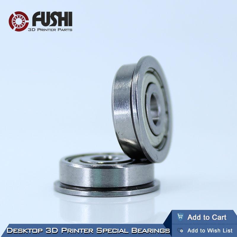 Desktop 3D Printer Special Flange Bushing Ball Bearing F625ZZ (10PCS) 5X16X5mm F625 For Kossel/ Prusa i3 Parts Free Shipping desktop 3d printer special bearing 624zz 10pcs 4x13x5mm mute ball bearings 624 for kossel mini prusa i3 parts free shipping