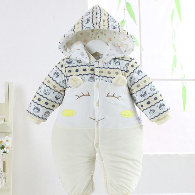 2016 ropa de bebé niña ropa de bebé niño lindo de dibujos animados mamelucos del bebé recién nacido mamelucos del invierno traje de algodón AY-1509-cc