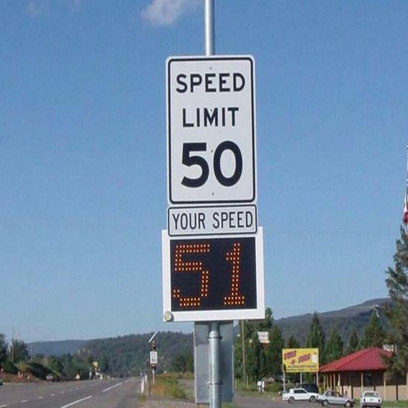 portable radar speed sign variable message display board